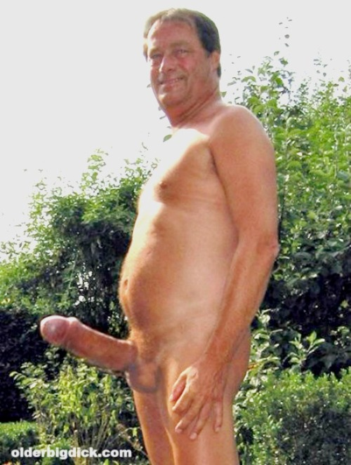 skinny naked old man