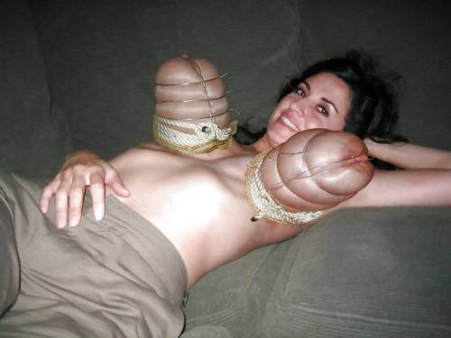 caned tits tied