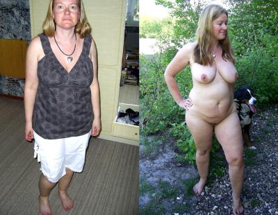 nude milf back yard