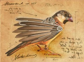Steampunk Bird by ~Adrienne-the-ripper. Click on the image for the origin.