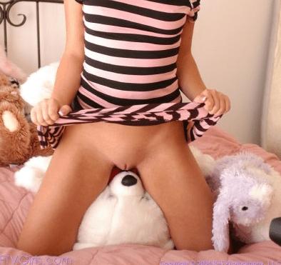 woman sleeping with stuffed animal