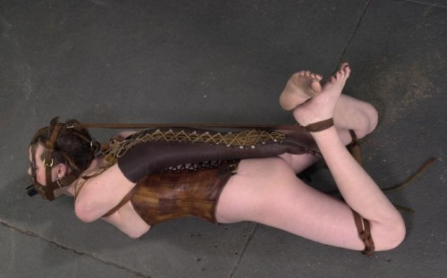 armbinder gagged and bound tightly with women