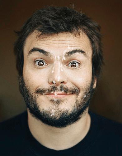 Jack Black, male celebrity gay facials porn