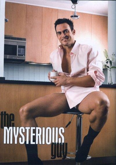 Cheyenne Jackson sexy thighs, shirtless, gay