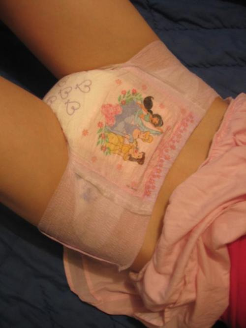 sitting in a messy diaper