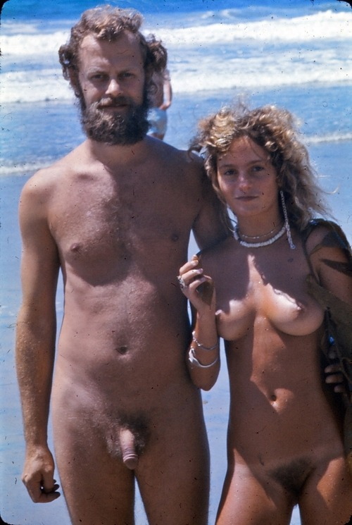 Naked dad and daughter on beach can discussed