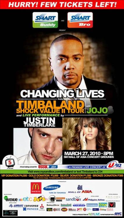 Changing Lives Concert Justin Timberlake Timbaland Jojo