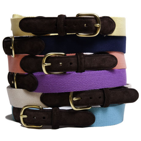 nickelcobalt:  (via Matt Singer | Shop | Accessories | Cotton & Suede Belt)