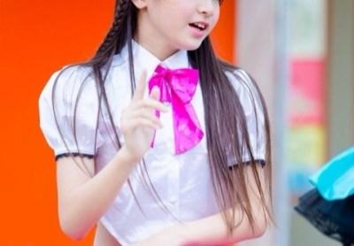 中学1年生12歳アイドルの水着ファッションショーが話題<仲村星虹ちゃん>博多どんたく動画像