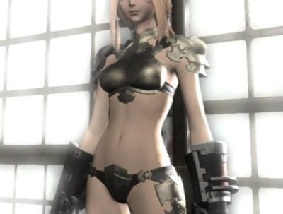 ビキニアーマーで誘惑してくる女戦士のコスプレ画像