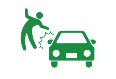 横断歩道で車にハネられる女性 →GIF画像