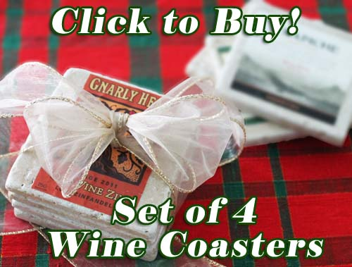 Beautiful Wine Label Stone Coasters on eBay