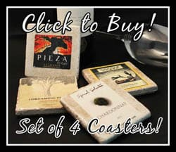 Get your wine label coasters today!