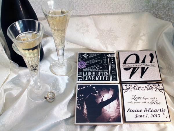 Personalized Wedding Coasters on eBay