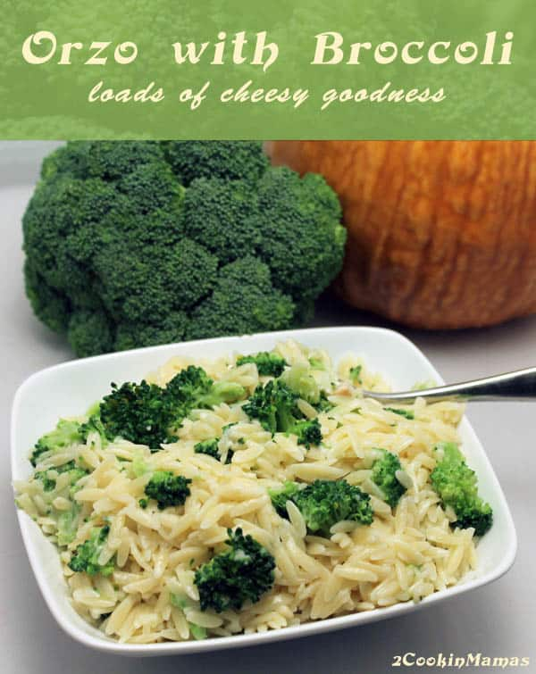 Cheesy Orzo with Broccoli - 2 Cookin' Mamas