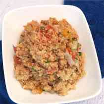 Quinoa with roasted vegetables main|2CookinMamas