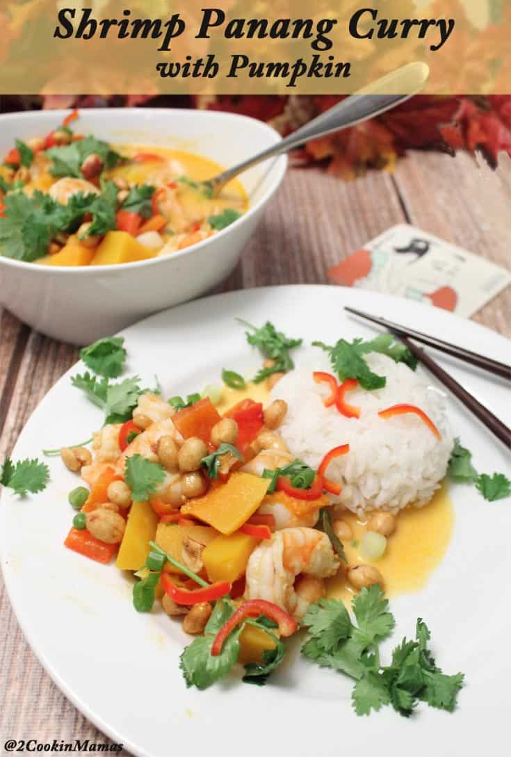 Shrimp Panang Curry with Pumpkin | 2CookinMamas - Easy one pan meal ...