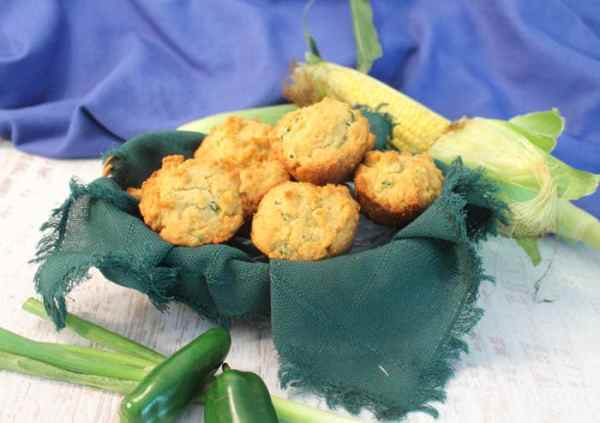 Green Onion Jalapeno Cornbread Muffins 2 | 2 Cookin Mamas
