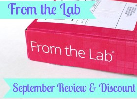 From the Lab September review & discount