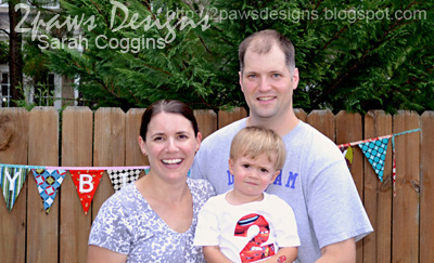 Cars Birthday Party Family Photo