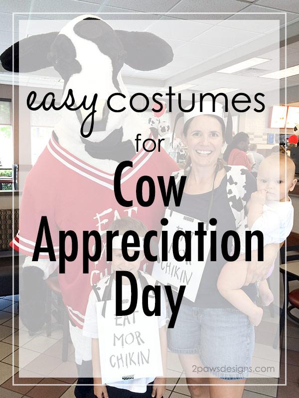 Easy Cow Appreciation Day Costume