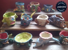Primary School Pottery Flower Pot Project