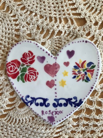 12 year old birthday party stencilled heart