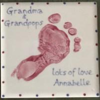 A coaster for the grandparents' tea