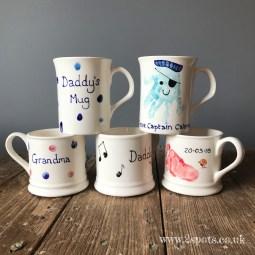 Baby print mugs