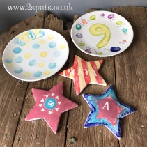 Birthday Plate and Star Selection