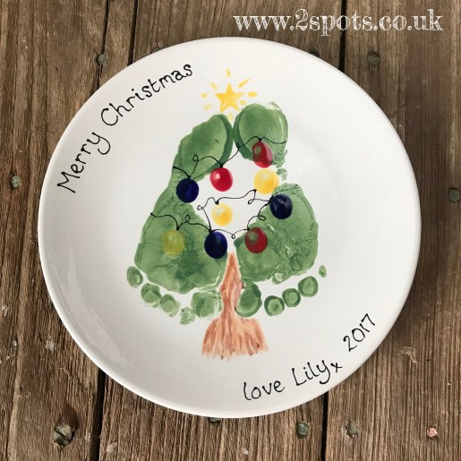 Christmas Tree Footprint Plate