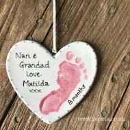 Nan and Grandad Heart