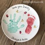 Painted sibling plate