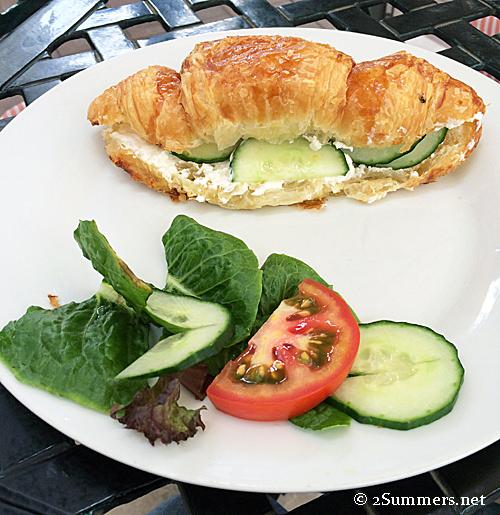 Croissant closeup