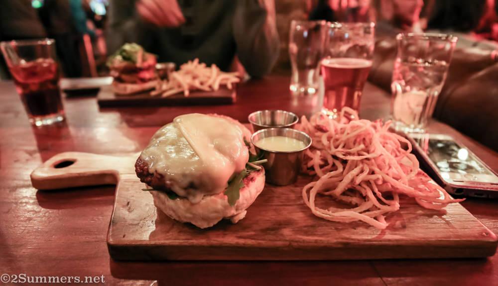 Hells Kitchen lamb burger