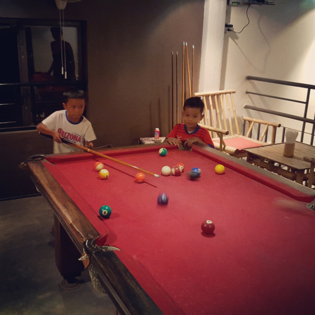 Playing Pool in Siem Reap