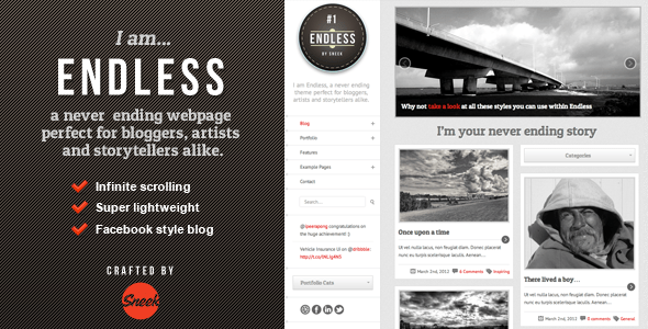 Endless - Infinite scrolling WordPress Theme - ThemeForest Item for Sale