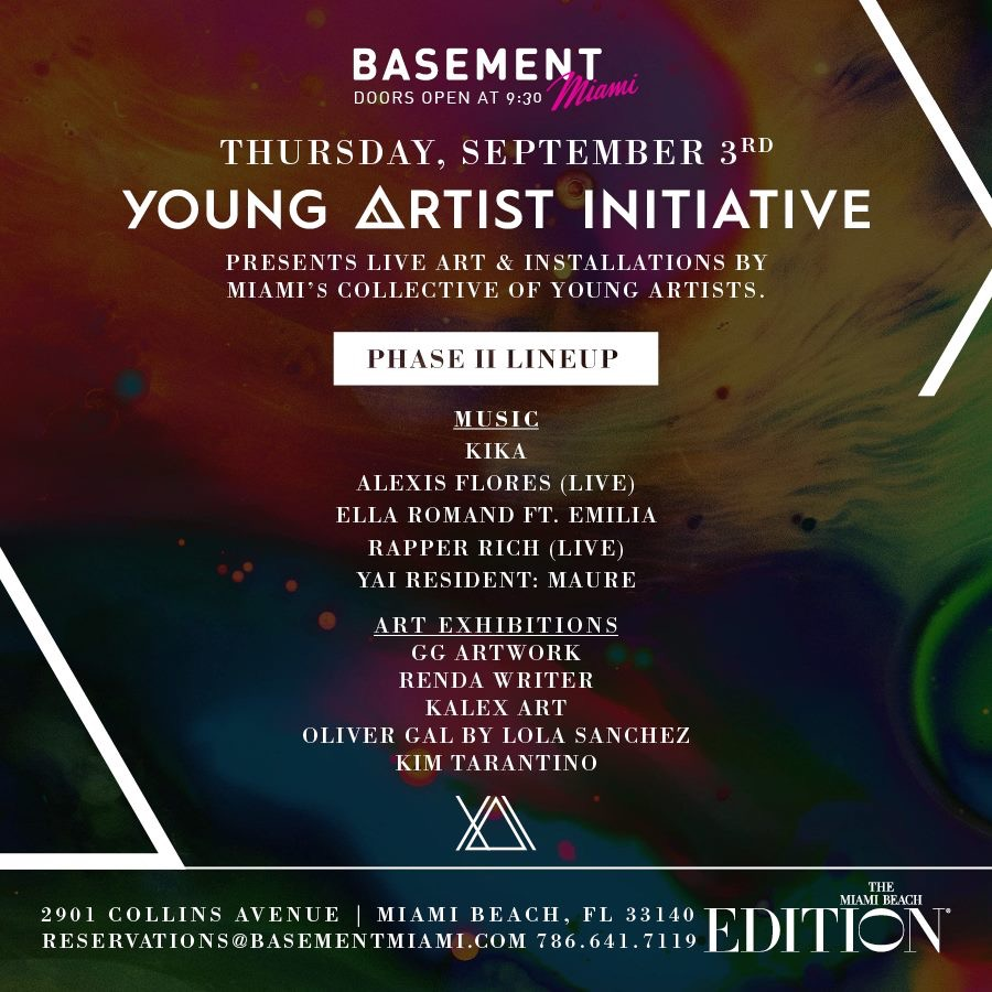 Young Artist Initiative at Basement Miami