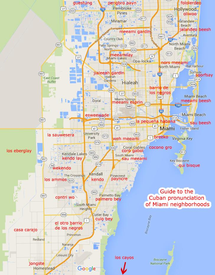 How to pronounce Miami neighborhoods in Spanish