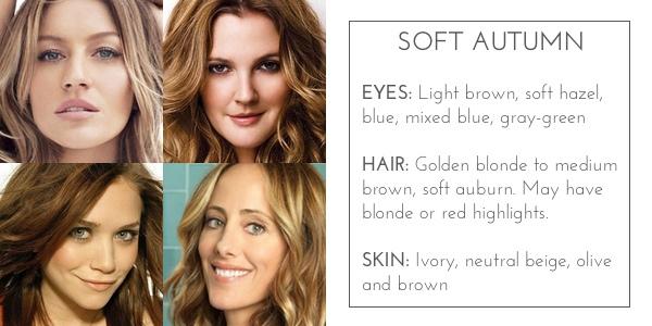 color for skin tone  autumn