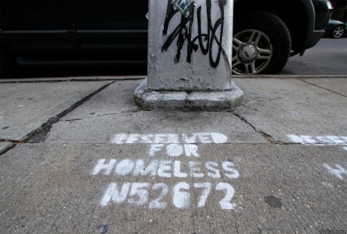 Homelessness street art New York