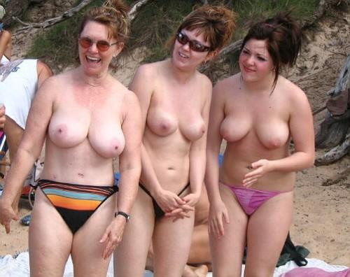 Nude mother daughter beach amusing