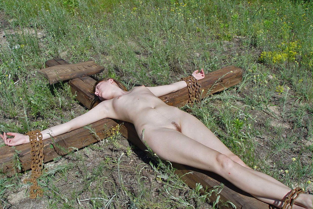 Important busty crucified nude remarkable, rather