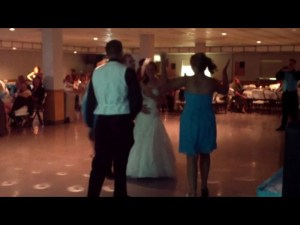 Bride surprised with mosh pit