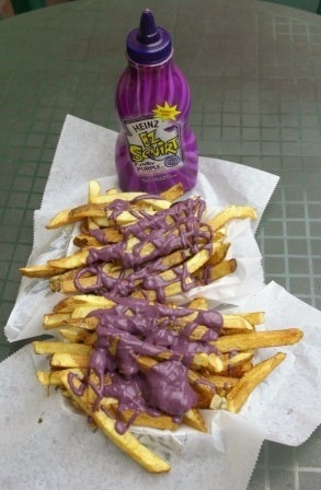 紫色のケチャップ
