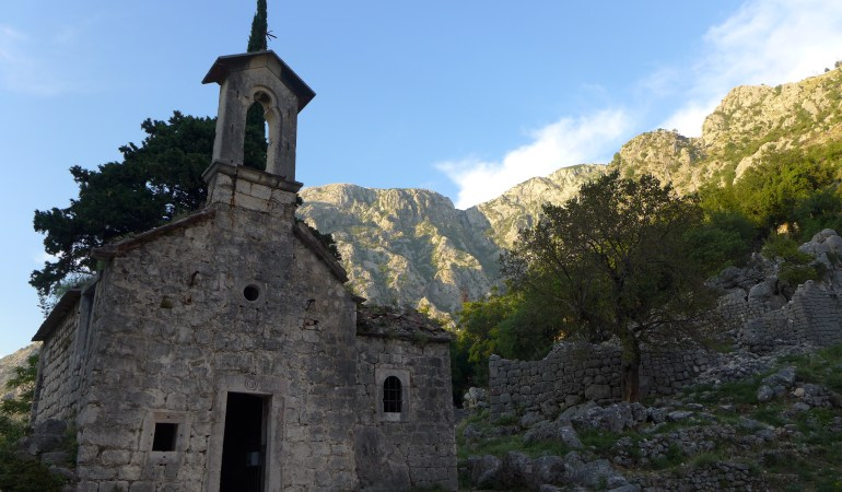 Abandoned church along the way