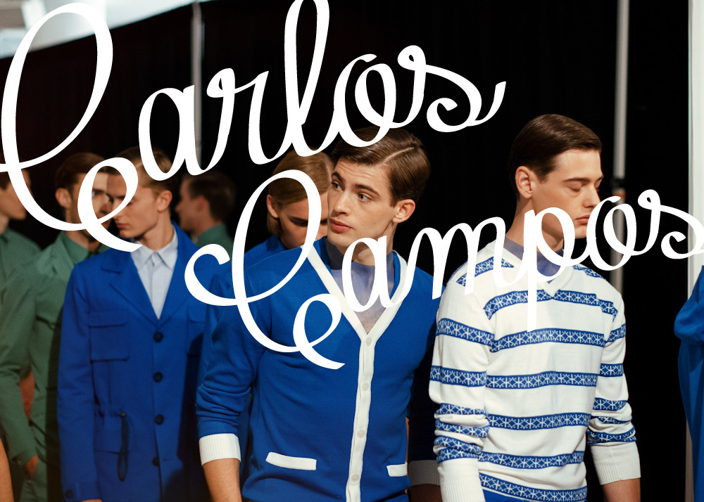 Backstage at Carlos Campos S/S 2013 collection at Milk Studios.View the entire collection here.