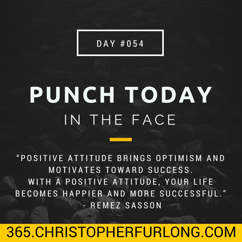 Day #054: Punch Today In The Face