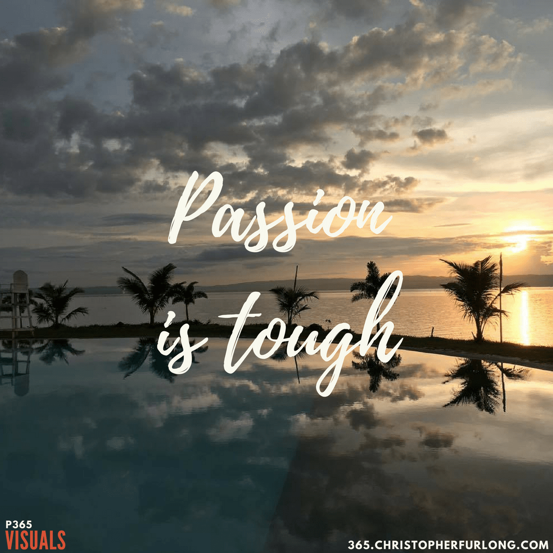 Day #013: Passion Is Tough