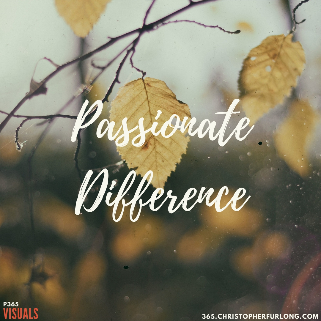 Day #247: Passionate Difference